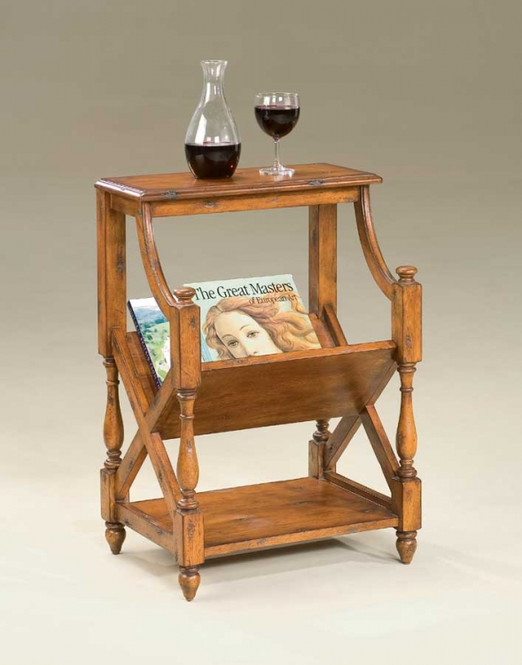 1566102 Old World Cherry Book Table - Butler