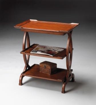 1570102 Old World Cherry Side Table - Butler