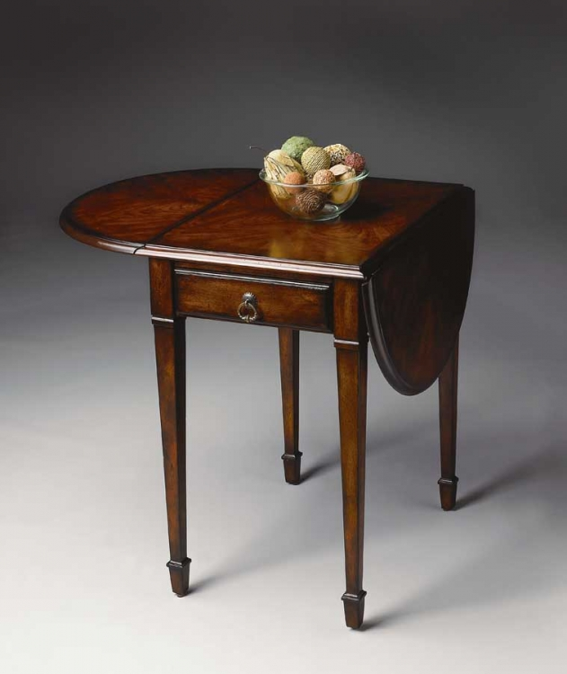1576024 Plantation Cherry Pembroke Table