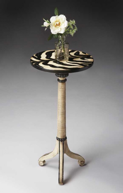 1583191 Zebra Stripe Pedestal Table