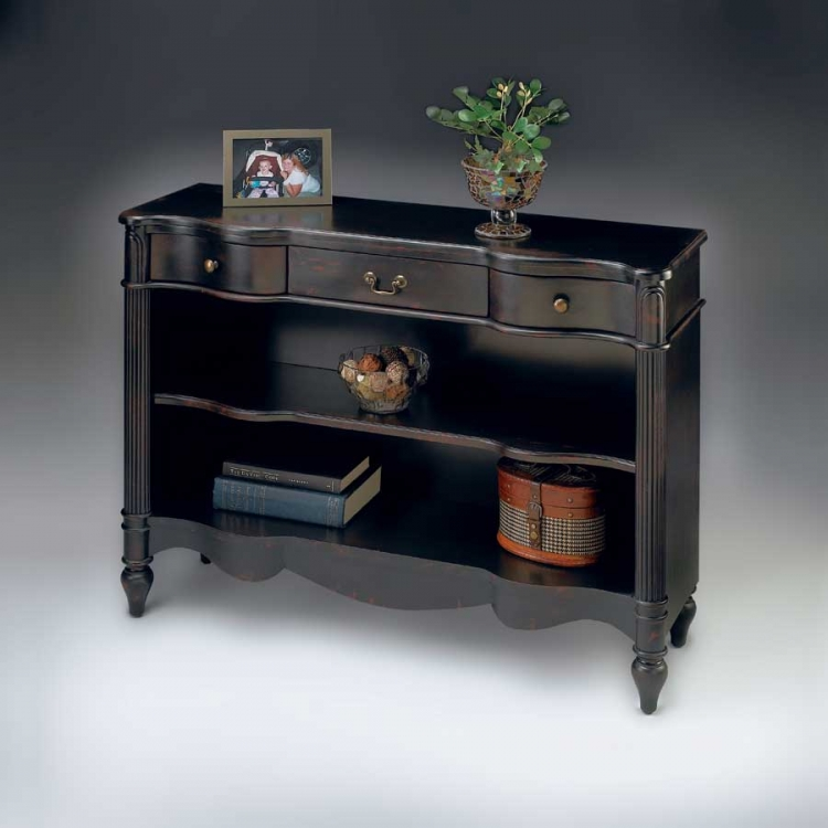 1654136 Plum Black Bookcase - Butler