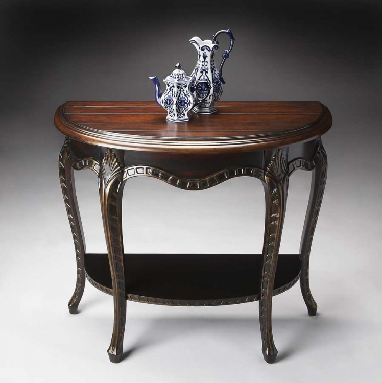 1681218 Cafe Nouveau Demilune Console Table
