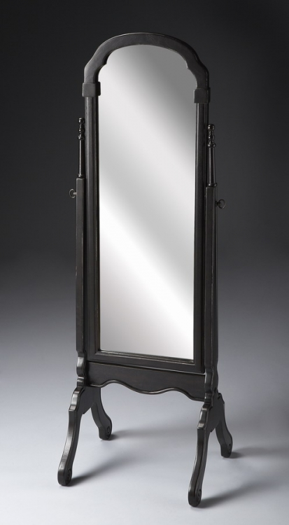 1911005 Brushed Sable Cheval Mirror - Butler
