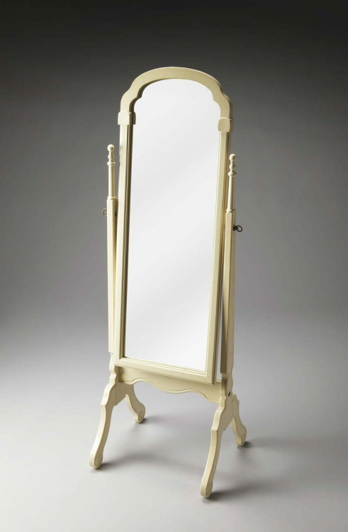 1911222 Cheval Mirror - Cottage White