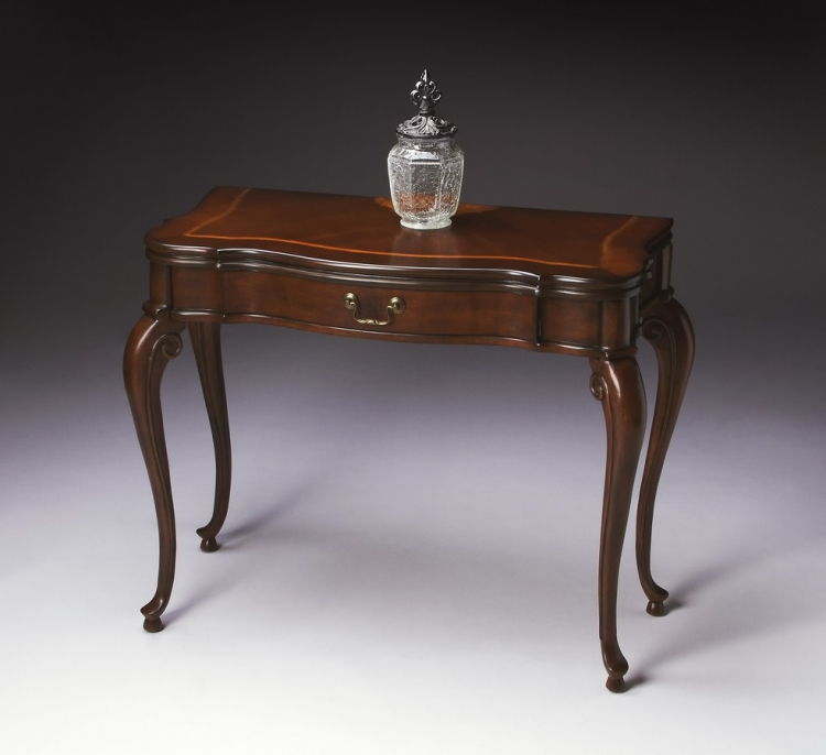 2109024 Plantation Cherry Flip-top Console Table - Butler
