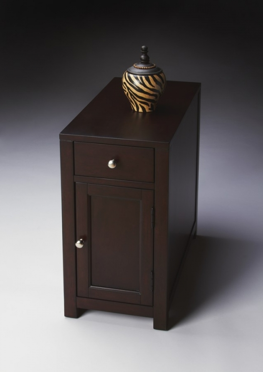 2129022 Merlot Chairside Table