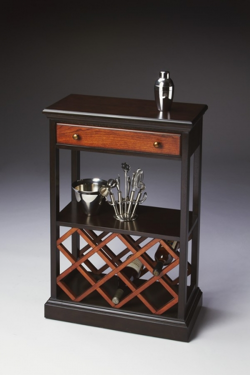 2131109 Transitional Cherry Wine Rack - Butler