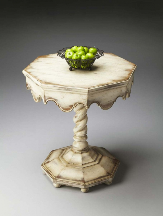 2132258 Octagonal Accent Table - Alabaster
