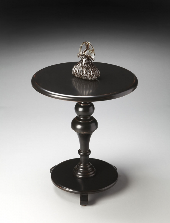 2213111 Pedestal Table - Black Licorice - Butler