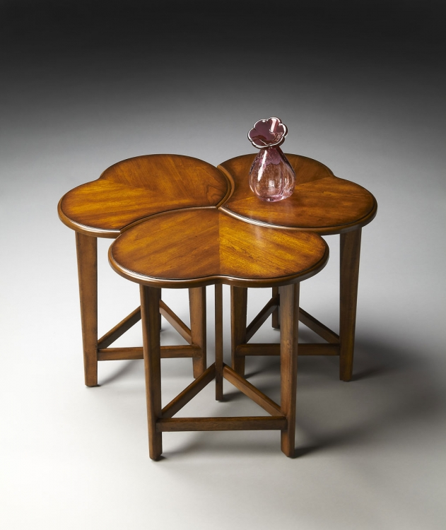 2224011 Nesting Cocktail Tables - Antique Cherry