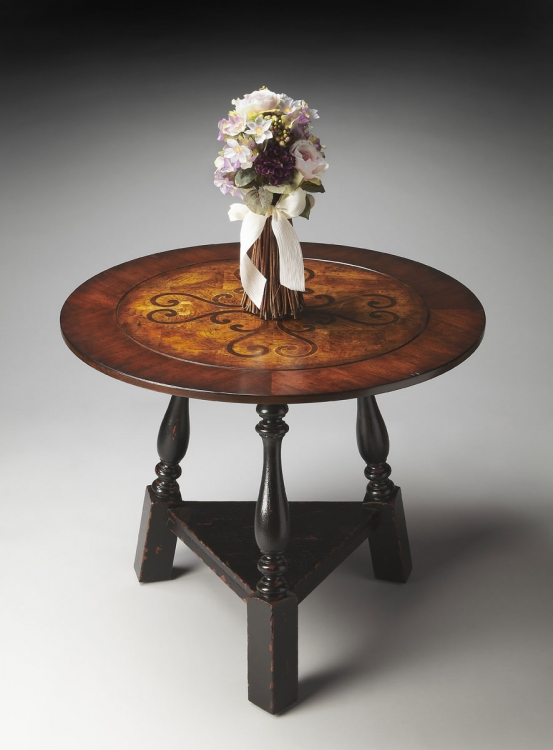 2244283 Foyer Table - Black And Tan - Butler