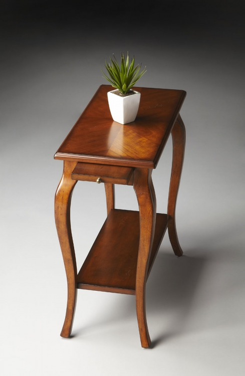 2247011 Chairside Table - Antique Cherry - Butler