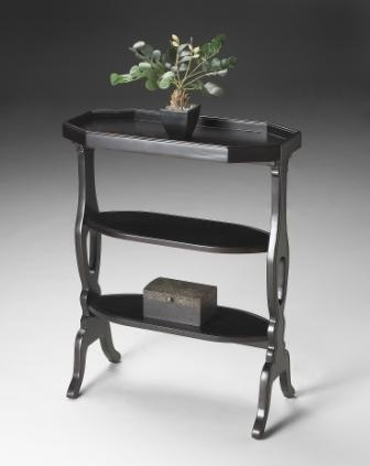 2330136 Plum Black Accent Table - Butler
