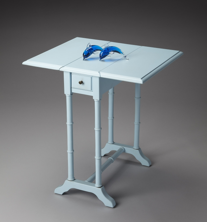 2334253 Baby Blue Drop Leaf Table