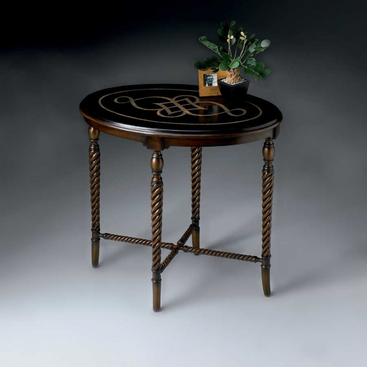 2339070 Heritage Oval Accent Table - Butler