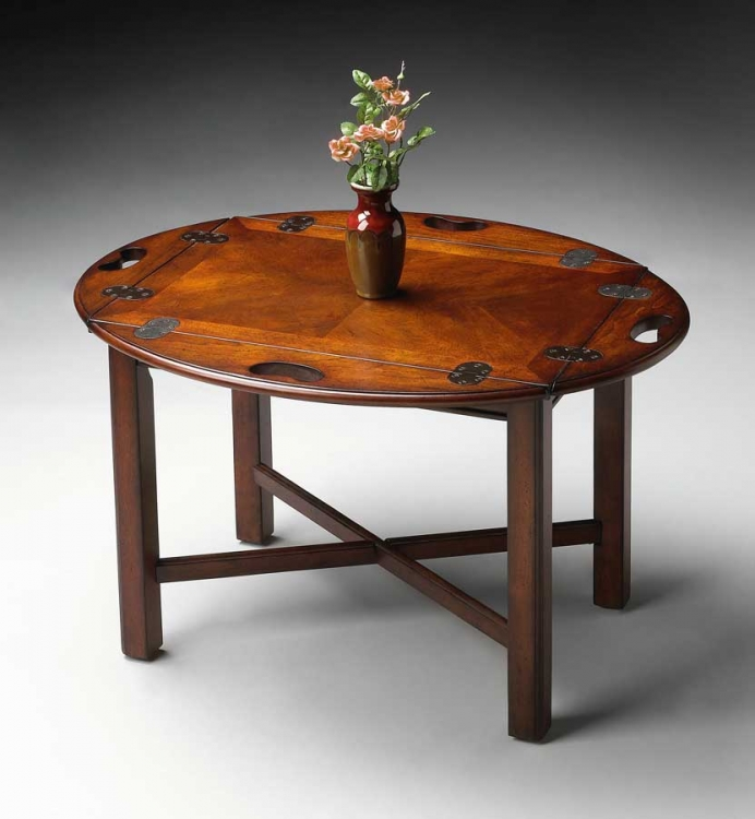 2427024 Plantation Cherry Butler Table - Butler