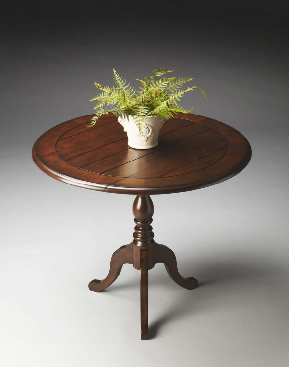 2926251 Drop-Leaf Accent Table - Nutmeg