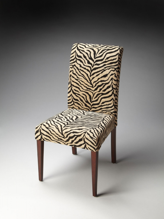 2956983 Parsons Chair - Zebra Print Fabric - Butler