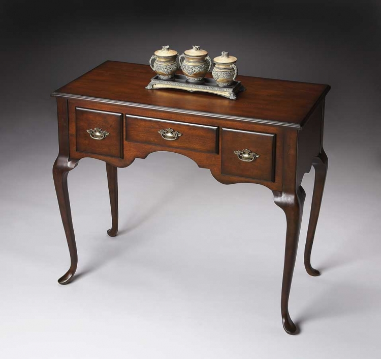 3001024 Plantation Cherry Low Boy Console - Butler