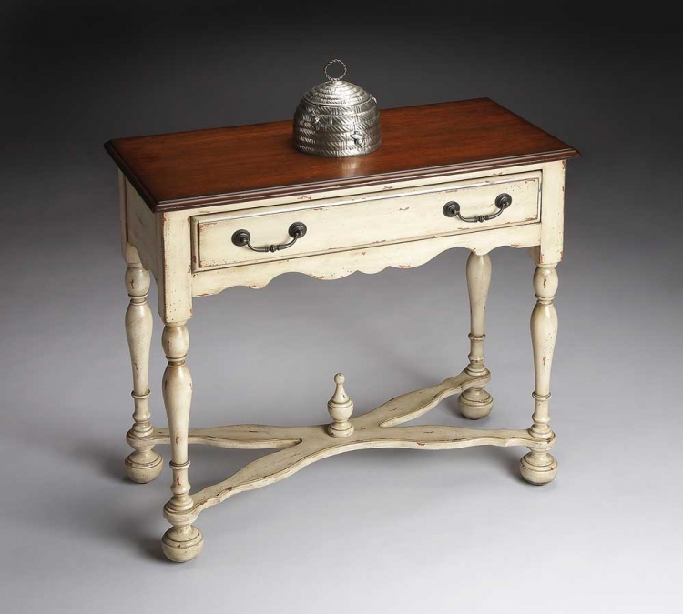 3004115 Vanilla and Cherry Console Table - Butler