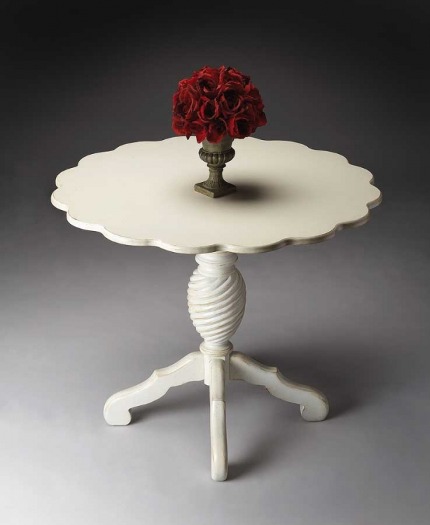 3005222 Cottage White Foyer Table - Butler