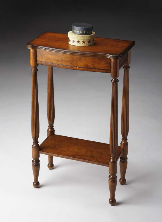 3011011 Antique Cherry Console Table