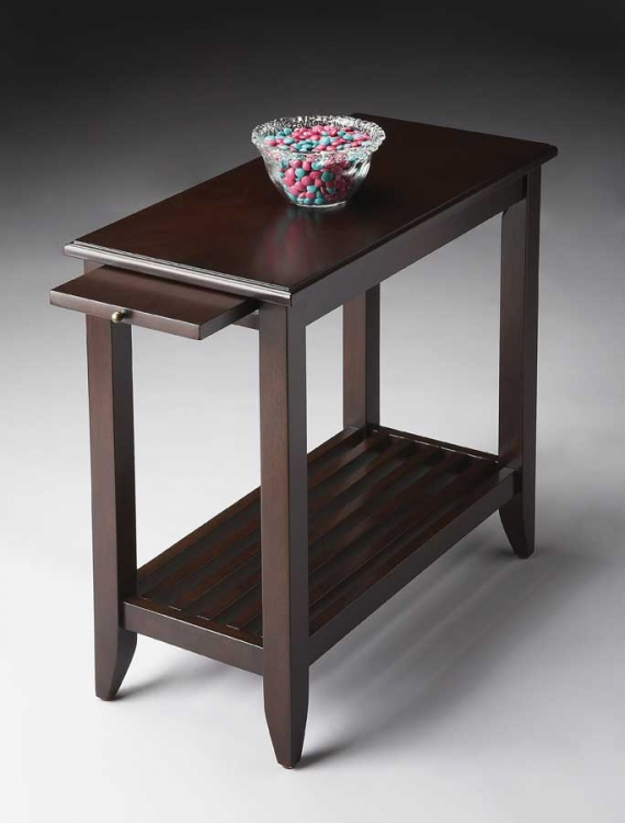 3025022 Merlot Chairside Table - Butler