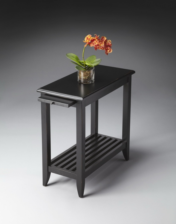 3025111 Black Licorice Chairside Table - Butler
