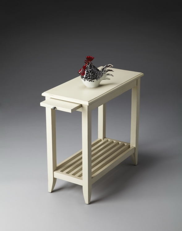 3025222 Cottage White Chairside Table