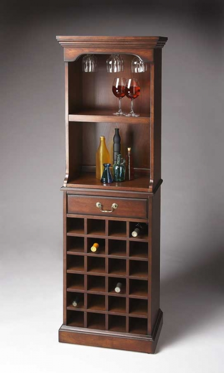 3027024 Plantation Cherry Wine Storage Cabinet - Butler