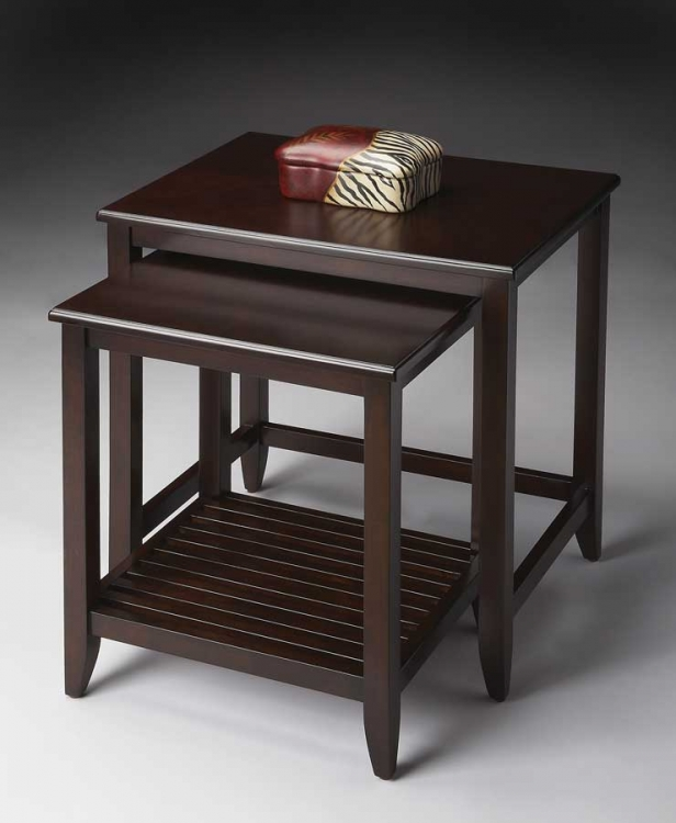 3040022 Merlot Nesting Tables - Butler