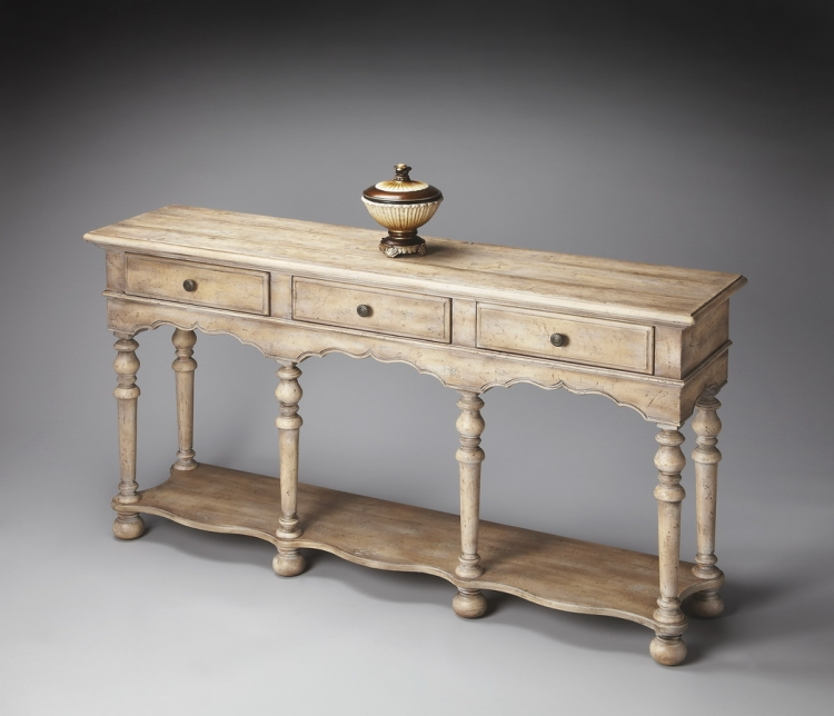 3046237 Blanched Almond Console Table
