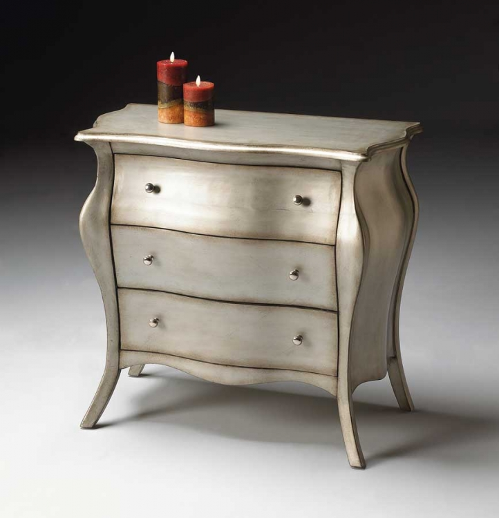 4006190 Brushed Pewter Bombe Chest
