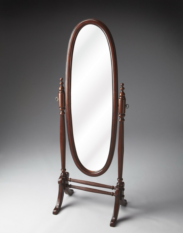 4109024 Plantation Cherry Cheval Mirror - Butler
