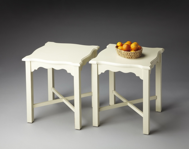 4118222 Cottage White Bunching Table