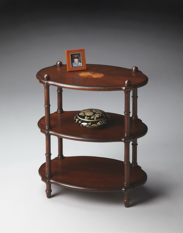 4123024 Plantation Cherry Oval Accent Table - Butler