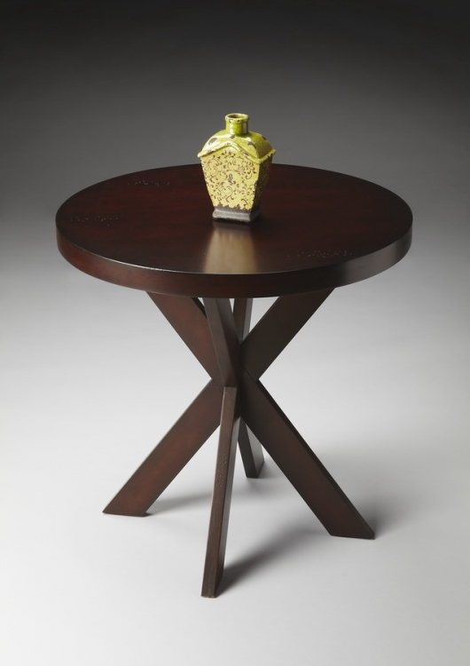 4124117 Chocolate Accent Table - Butler