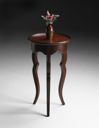 5007024 Plantation Cherry Round Accent Table - Butler