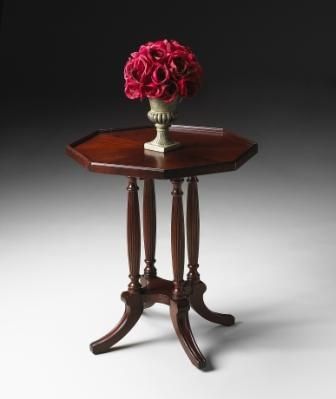 5015024 Plantation Cherry Octagon Accent Table - Butler