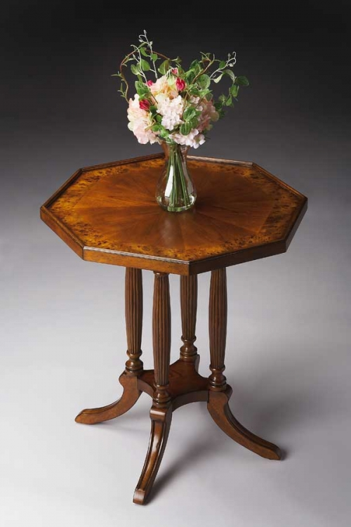 5015101 Olive Ash Burl Octagon Accent Table