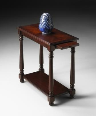 5017024 Plantation Cherry Chairside Table - Butler