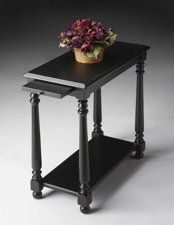 5017111 Black Licorice Chairside Table - Butler
