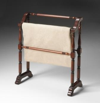 5020024 Plantation Cherry Blanket Rack - Butler