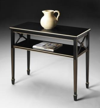 5022200 Brilliant Black Console Table - Butler
