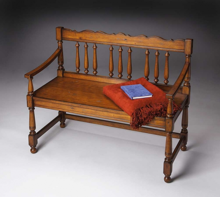 5049102 Old World Cherry Bench - Butler