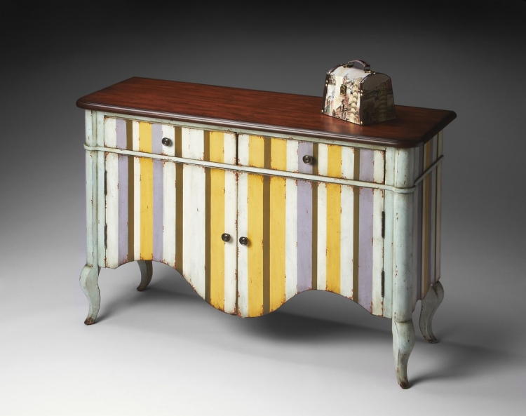 6012231 Pastel Stripe Chest - Butler