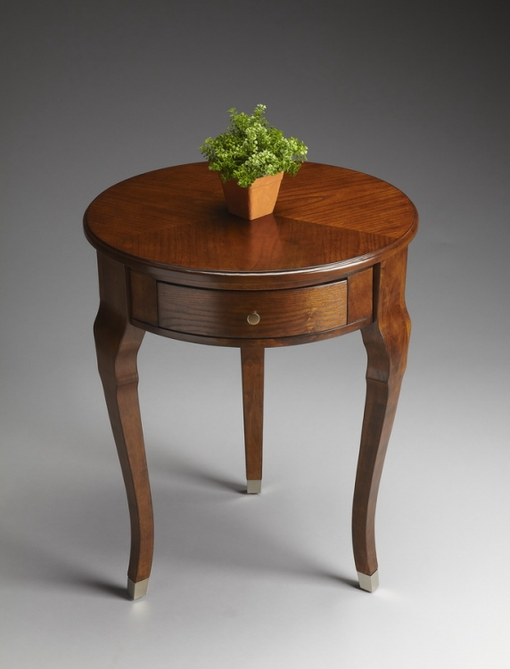 6014108 Chestnut Burl Side Table