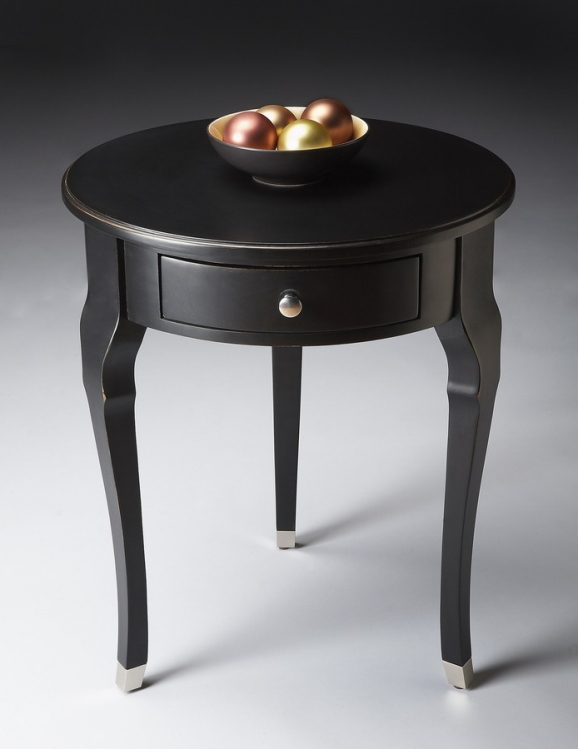 6014111 Black Licorice Side Table - Butler