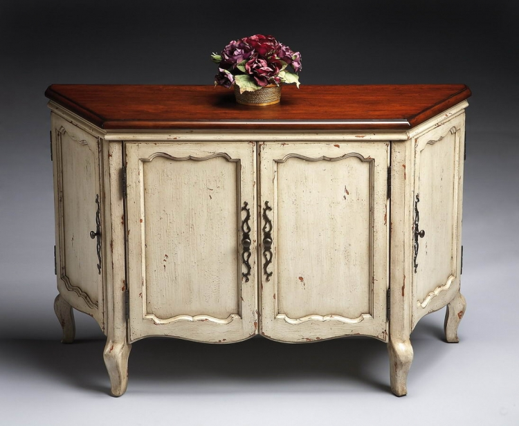 6025115 Vanilla and Cherry Console Chest - Butler