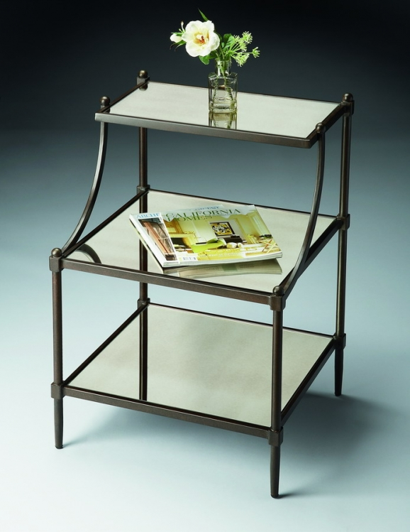 7015025 Metalworks Tiered Side Table - Butler